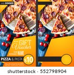 restaurant gift voucher flyer... | Shutterstock . vector #552798904