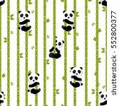 panda with bamboo. vector...   Shutterstock .eps vector #552800377