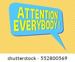 sign social media shout out... | Shutterstock . vector #552800569