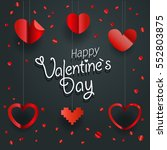 valentines greeting card.... | Shutterstock .eps vector #552803875