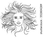 woman disheveled hair | Shutterstock .eps vector #552804289