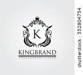 Stock vector luxury logo 552804754