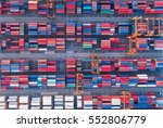 container container ship in... | Shutterstock . vector #552806779