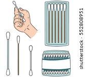 vector set of cotton swab | Shutterstock .eps vector #552808951