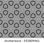 decorative floral ornament.... | Shutterstock .eps vector #552809461