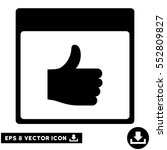 thumb up calendar page icon.... | Shutterstock .eps vector #552809827