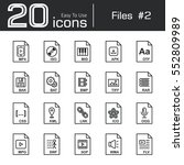 files icon set 2   mp4 . iso .... | Shutterstock .eps vector #552809989