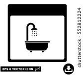 shower bath calendar page icon. ... | Shutterstock .eps vector #552812224