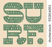surf bold grunge lettering... | Shutterstock .eps vector #552816001