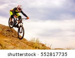 professional cyclist riding the ... | Shutterstock . vector #552817735