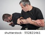 kapap instructor demonstrates... | Shutterstock . vector #552821461