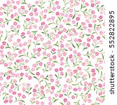 floral white pattern. flower... | Shutterstock .eps vector #552822895