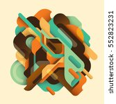 retro style abstract... | Shutterstock .eps vector #552823231