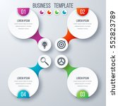 infographics template four... | Shutterstock .eps vector #552823789