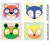 cute animals | Shutterstock .eps vector #552824269