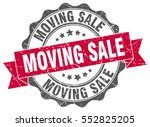 moving sale. stamp. sticker.... | Shutterstock .eps vector #552825205