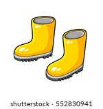 yellow wellies gum boots... | Shutterstock .eps vector #552830941