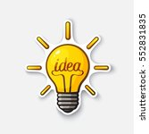 vector illustration. light bulb ... | Shutterstock .eps vector #552831835