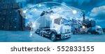 global network coverage world... | Shutterstock . vector #552833155