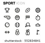 vector line sport icons set | Shutterstock .eps vector #552834841