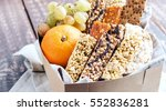 variety muesli bars and fruits... | Shutterstock . vector #552836281