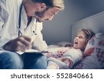 young male doctor visiting his... | Shutterstock . vector #552840661