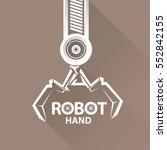 vector robotic arm symbol.... | Shutterstock .eps vector #552842155