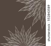 monochrome decorative... | Shutterstock .eps vector #552843589