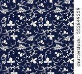 seamless blue japanese... | Shutterstock .eps vector #552849259