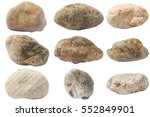collection rock stone isolated... | Shutterstock . vector #552849901