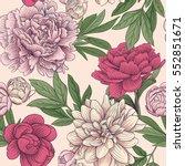 seamless floral vector pattern... | Shutterstock .eps vector #552851671