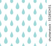 rain drops seamless pattern on... | Shutterstock .eps vector #552852451