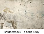 old white wash plaster wall... | Shutterstock . vector #552854209