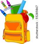 back to school image concept.... | Shutterstock .eps vector #55285867