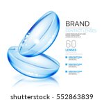 vector eye contacts lenses ad... | Shutterstock .eps vector #552863839