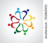 teamwork meeting 8. abstract... | Shutterstock .eps vector #552865051