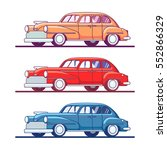 set of isolated colorful retro... | Shutterstock .eps vector #552866329