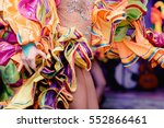 brazilian carnival. dancing in... | Shutterstock . vector #552866461