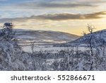 winter landscape in svandalen... | Shutterstock . vector #552866671