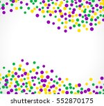 bright abstract dot mardi gras... | Shutterstock .eps vector #552870175