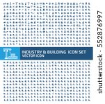 industry and building icon set... | Shutterstock .eps vector #552876997
