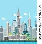 smart city skyline vector... | Shutterstock .eps vector #552879121