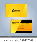 yellow and black modern... | Shutterstock .eps vector #552882049