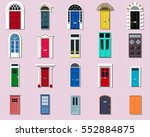 vector doors set ancient ... | Shutterstock .eps vector #552884875
