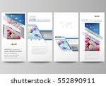 flyers set  modern banners.... | Shutterstock .eps vector #552890911