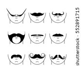 big set of vector hipster...   Shutterstock .eps vector #552891715