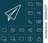 thin line telegram  plane icon...