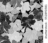 seamless pattern with tropical... | Shutterstock .eps vector #552893581