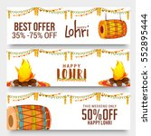 creative sale banner or sale... | Shutterstock .eps vector #552895444