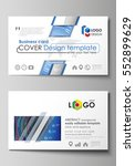 business card templates. easy... | Shutterstock .eps vector #552899629